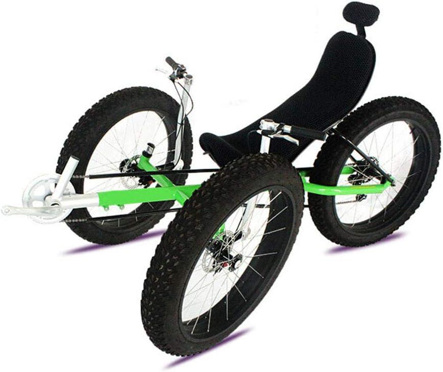 Qj Acostado en una Gruesa Bicicleta de montaña de neumáticos Moto de Nieve Tumbado Bicicleta en la Playa en Bicicleta