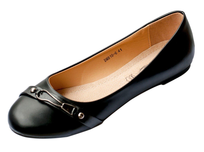 Chaussures Ballerines Noir Femme Femme Première Cuir DM818-6 13484 Grande Pointure 41 42 43 44 Noir 9462d2c - shopssong.space