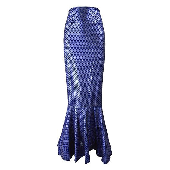 hibote Mujeres Elegantes Sirena Cola Falda Escena Disfraz Escala ...
