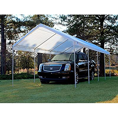 King Canopy 10 x 27 ft. Canopy Replacement Drawstring Carport Cover
