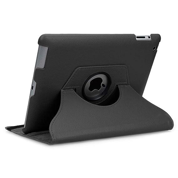doupi Deluxe Schutzhülle für iPad 2 3 4, Smart Case Sleep/Wake Funktion 360 Grad drehbar Schutz Hülle Ständer Cover Tasche, s