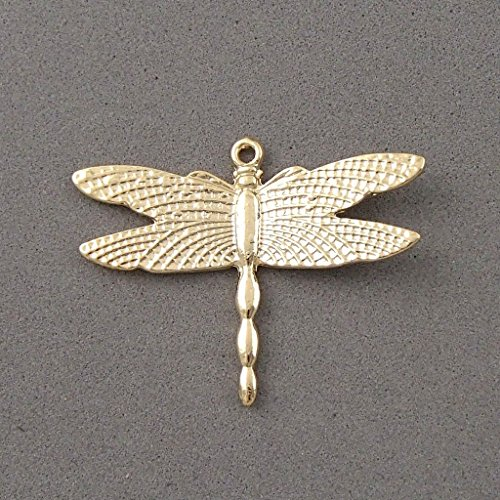 14k gold plated dragonfly charm bead pendant bracelet necklace plated