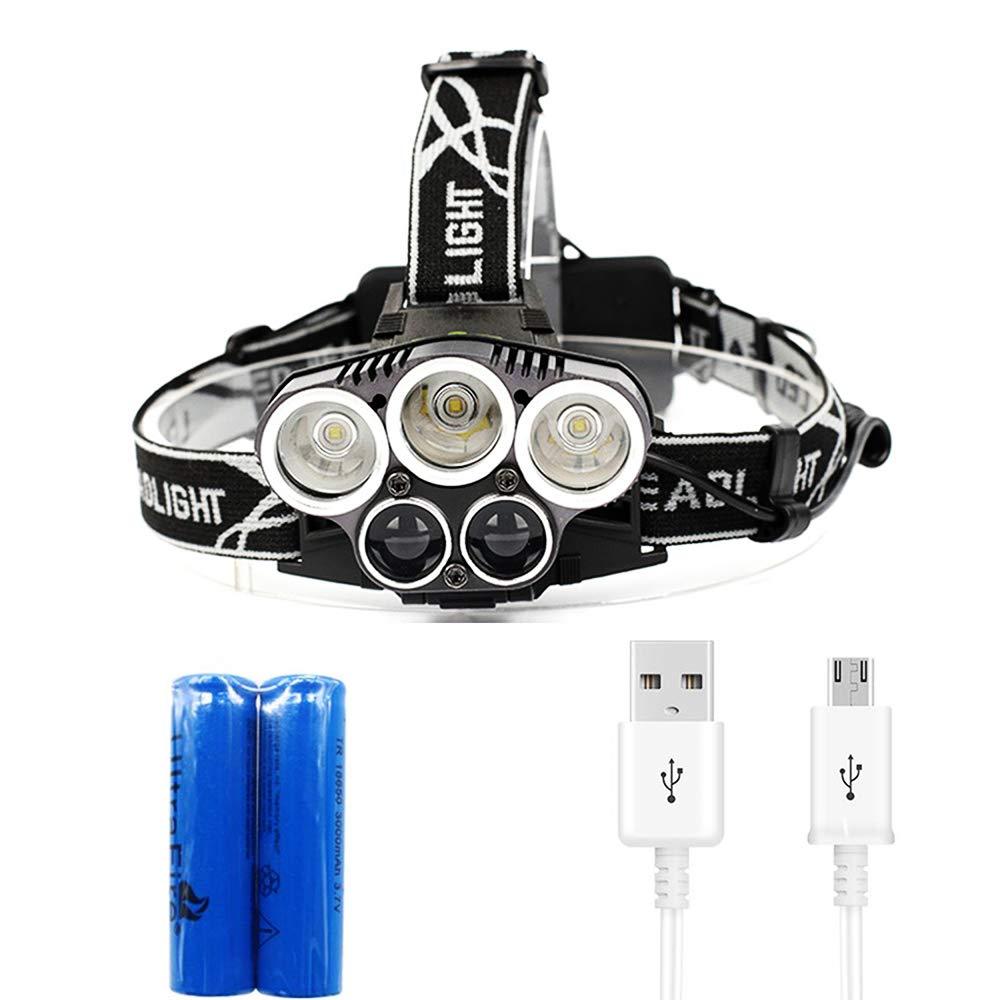 USB Rechargeable LED Headlamp 6 Modes Headlight Head Lamp Flashlight Waterproof
