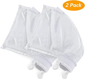 Homga Nylon Mesh Pool Cleaner Bags, Compatible Zipper Replacement Bag for Polaris 280, 480 Pool Cleaner All Purpose Filter Bag K13, K16 (2 Pack)
