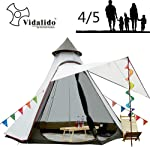 12'x10'x8'Dome Camping Tent 5-6 Person 4 Season Double Layers Waterproof Anti-UV