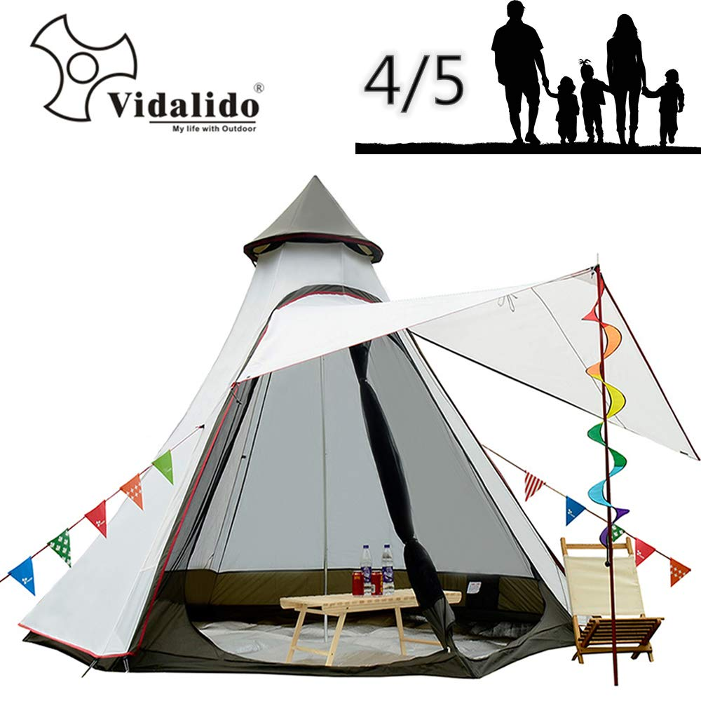 Vidalido 12 x10 x8 Dome Camping Tent 5-6 Person 4 Season Double Layers Waterproof Anti-UV Windproof Tents Family Outdoor Camping Tent