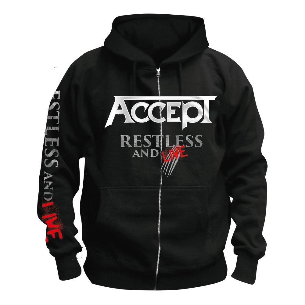 Restless /& Live Accept Kapuzenjacke//Zipper