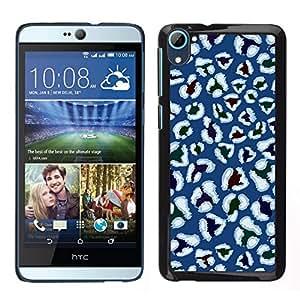 Caucho caso de Shell duro de la cubierta de accesorios de protección BY RAYDREAMMM - HTC Desire D826 - Estilística Azul Blanco Flores