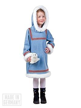 Esquimal Chica Disfraz Para Niños, Azul, Blanco: Amazon.es ...