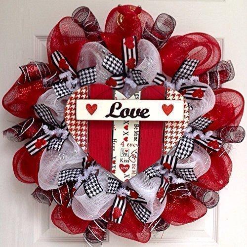 Amazon Com Valentines Day Wreath Herringbone Valentines Day Heart