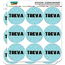 "Treva - Name Planner Calendar Scrapbooking Crafting Stickers - Blue Speckles - 18 2"" Clear Stickers"