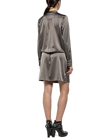 Replay Damen Kleid W9311 .000.80685, Beige (Green Clay 773), 36  (Herstellergröße: S): Amazon.de: Bekleidung