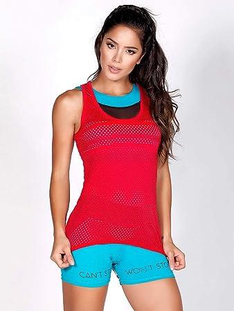 28bd9da4ab80 Protokolo Gym Mesh Top for Women: Amazon.ae: Gulfissimo