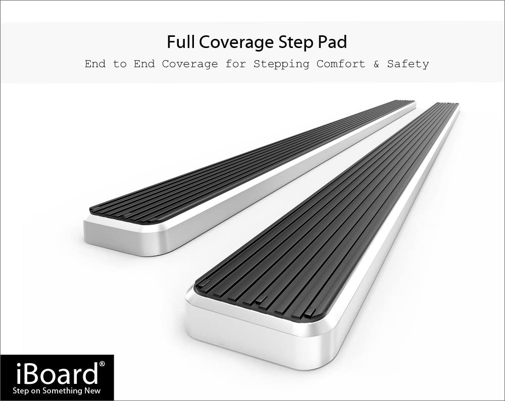 iBoard Third Generation, for Selected Ford Explorer 4-Door, Aluminum APS IBFY5967 Silver 4 Running Board Side Step