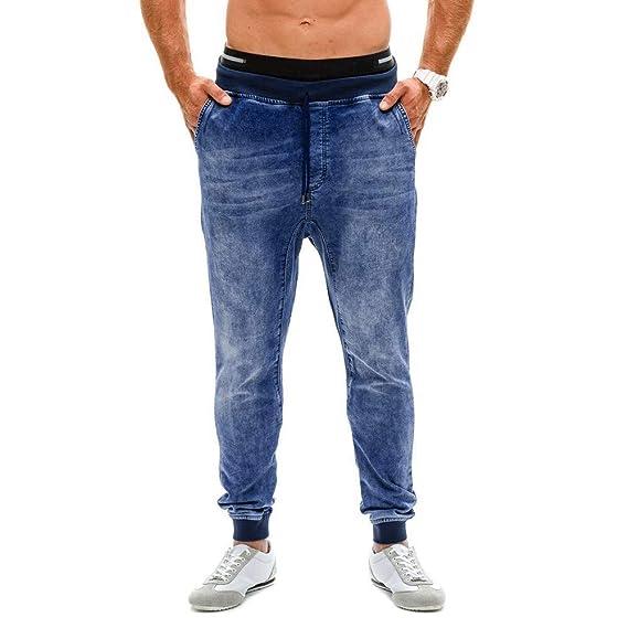 Yvelands Pantalones Activos, Pantalón Vaquero elástico para ...