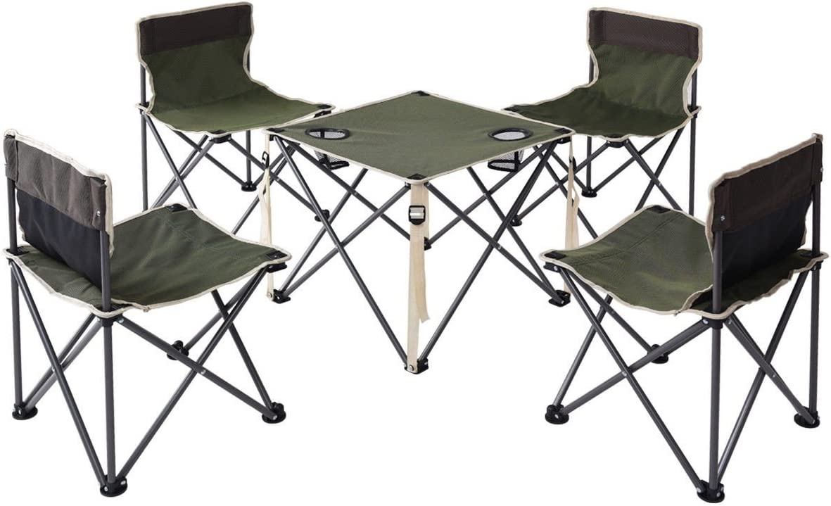 Choice Outdoor Camp Portable Folding Table Chairs Set W/Carrying Bag Products