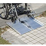 Festnight Folding Portable Mobility Wheelchair Threshold Ramp 2'