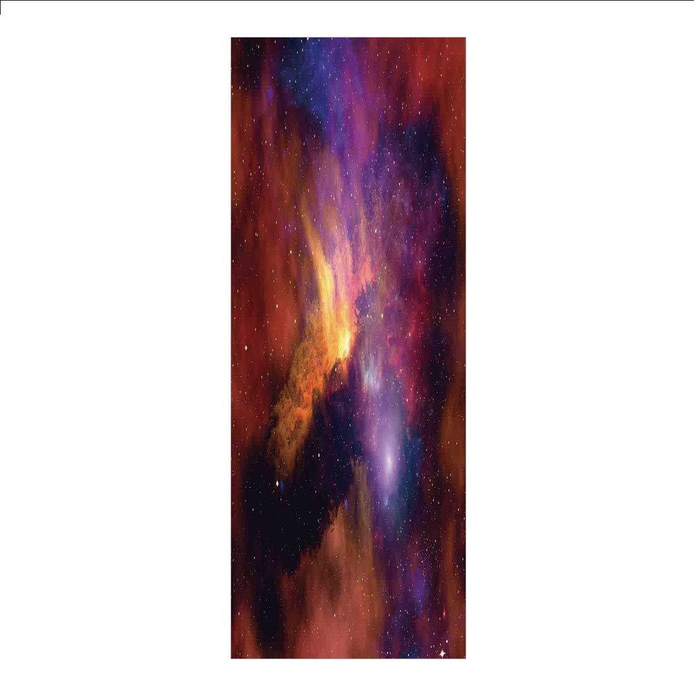 装飾プライバシーウィンドウフィルム/虹色 ふんわりと可愛い ロマンティックな雲 子供部屋アート/接着剤不要 静電気でくっつく ホーム ベッドルーム バスルーム キッチン オフィス 装飾 ベビーブルー ホワイト レッド イエロー ピンク W23.6xL78.7 Inches HL_BLTZ_06439_K60xG200 B07MX35DVL Z04 W23.6xL78.7 Inches