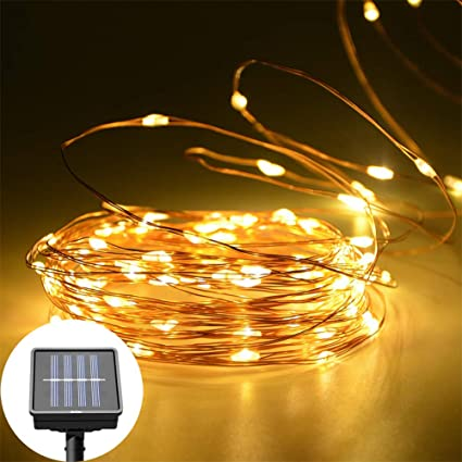 Solar Powered Copper Led String Light 10m 100leds Ip65 Waterproof Fairy Light Christmas Wedding Party Garden Outdoor Decoration Cheap Sales Led String Led Lighting