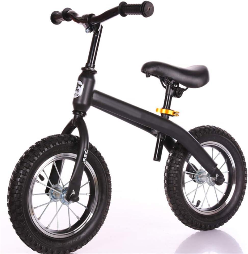 XRQ Neumáticos, Balancines para Niños, Herramientas De Viaje Al Aire Libre, Sin Scooters De Pedal, Niños Y Niñas Pueden Jugar,Negro