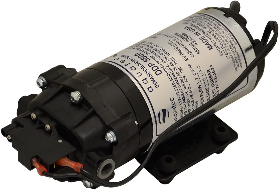 Aquatec 5853-7E12-J524 1.7 GPM 60 PSI 3/8 inch JG 120V Delivery/Demand Pump with Cord