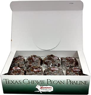 product image for Lammes Texas Chewie Pecan Praline Candy 24 Piece Box - Enjoy Texas Pecans Combined With Chewy Pralines For A Gourmet Treat!