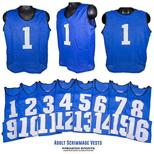 Predator Sports Two Tone Adult Athletic Scrimmage Vests # 1-16