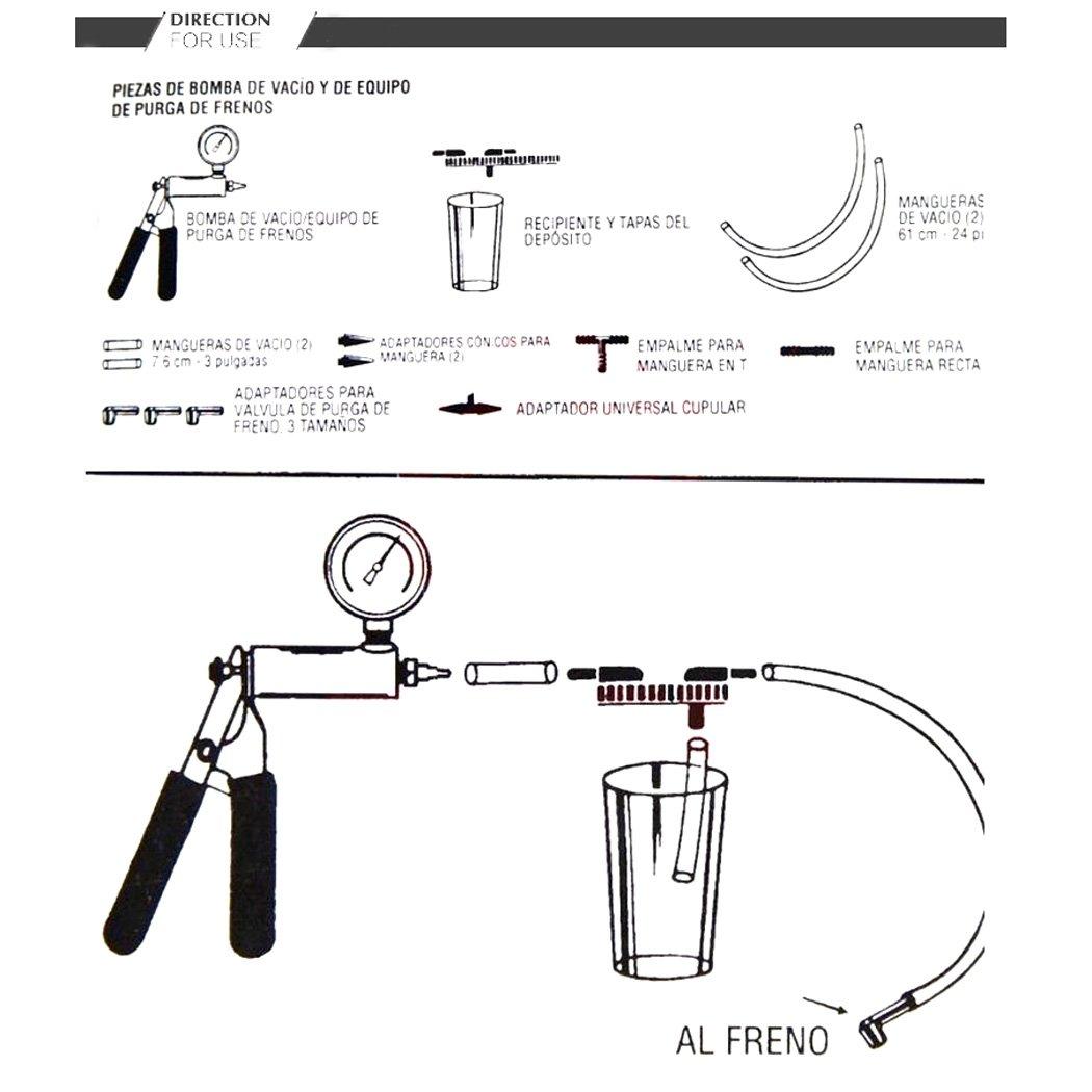 Eshion Car Auto Vehicles 2 In 1 Brake Bleeder And Hand Held Manual Vacuum Pump Tool Kit by eshion (Image #7)