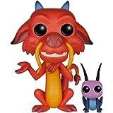 Disney Mulan - Boneco Pop Funko Mushu e Grilo