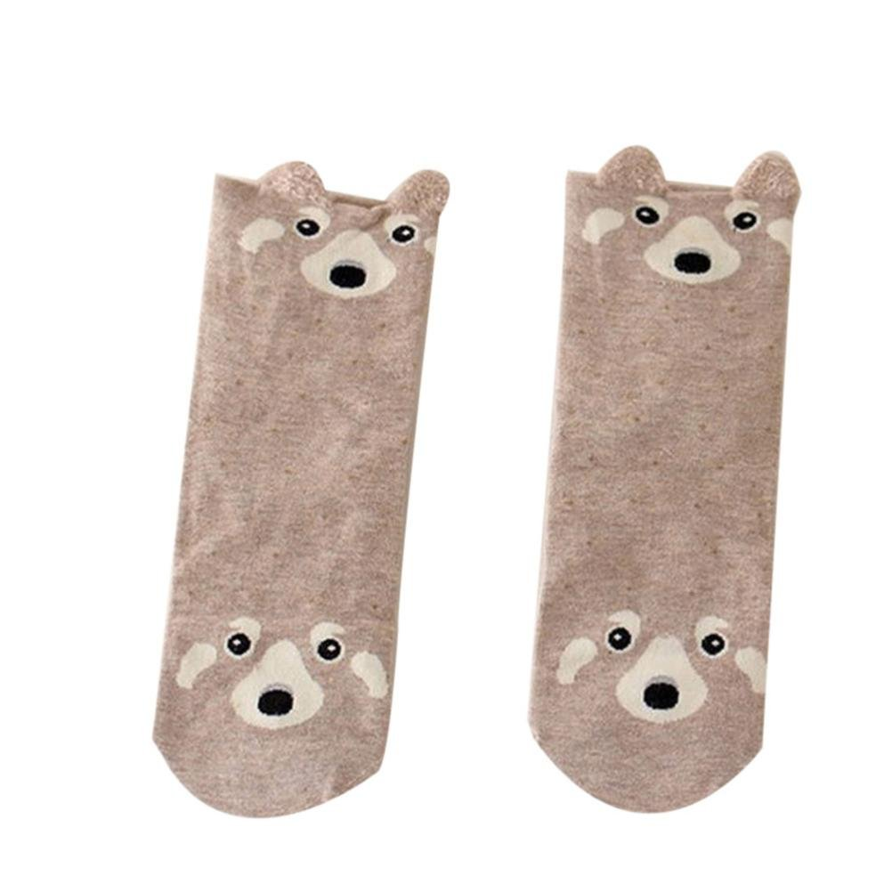 Clearance!!Swyss Lovely Cartoon animal Sock,Stereoscopic Ear Girls Comfortable Sox,Warm Cotton Gift (Brown)