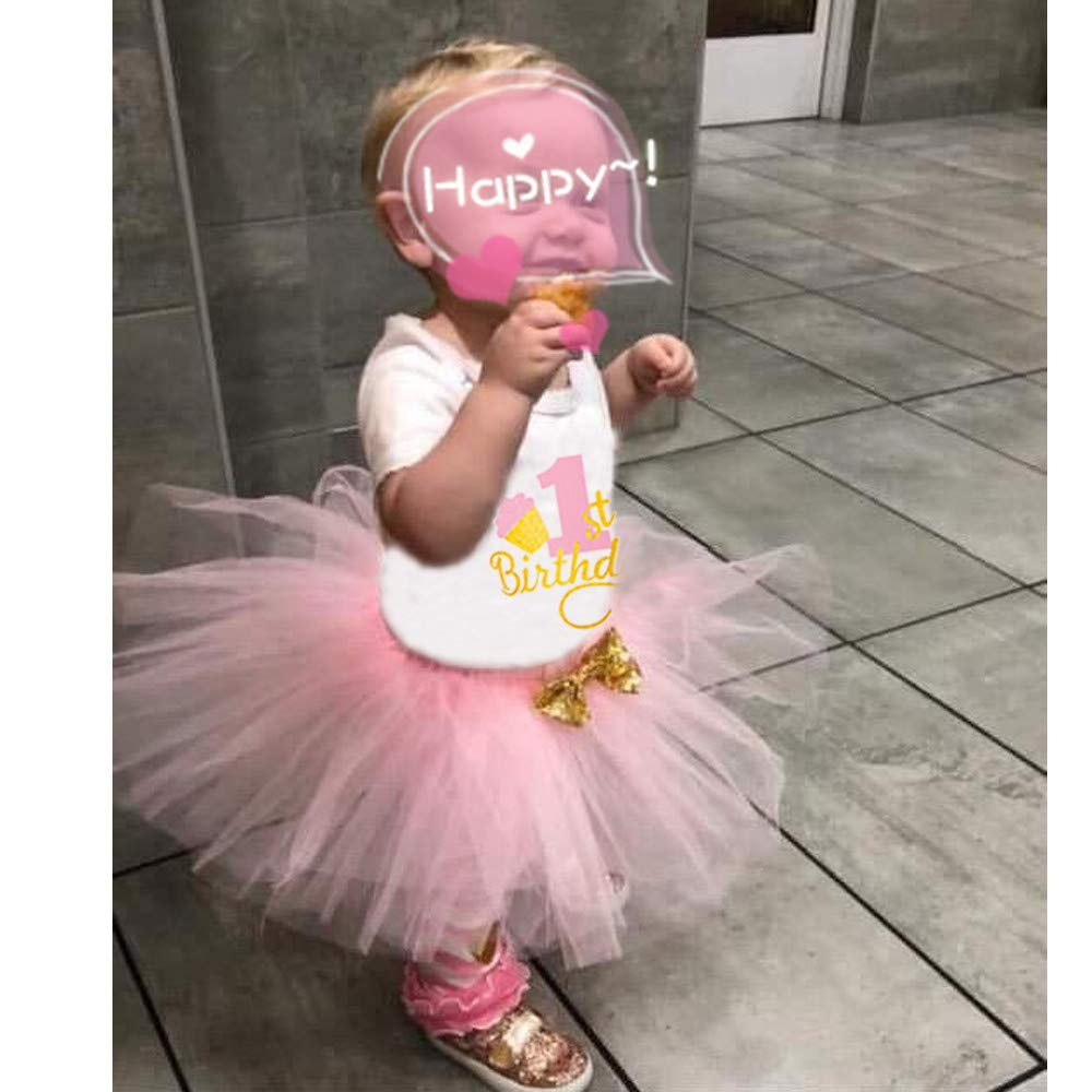 12-18 Months Carina Baby First Birthday Outfit Girl One Year Old Birthday 3 Pcs Outfits Romper+Tutu Dress+Headband