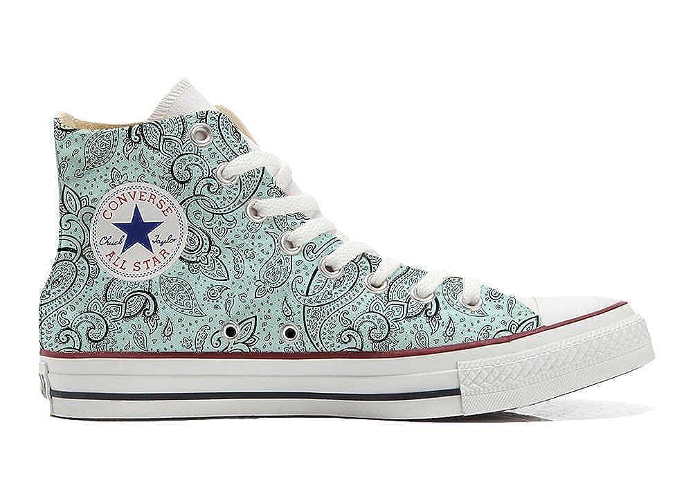 Converse Custom - personalisierte Schuhe (Handwerk Produkt) Elegant Paisley  44 EU