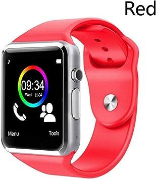 LIAOCHEN Inteligente Reloj del Deporte del podómetro con el SIM Cámara SmartWatch for Android Smartphone Mujeres de los Hombres SmartWatch (Color : Red, Size : No Box): Amazon.es: Electrónica