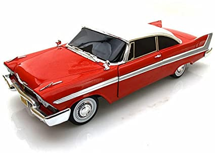 "Amazon.com: 1958 Plymouth Fury ""Christine"" 1/18 by Autoworld AWSS102: Toys  & Games"