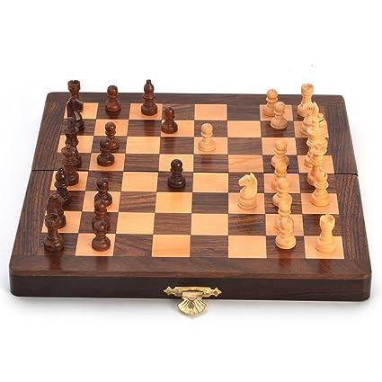 Buy Ethnic Baazaar Wooden Chess Board Handicraft Gift Online