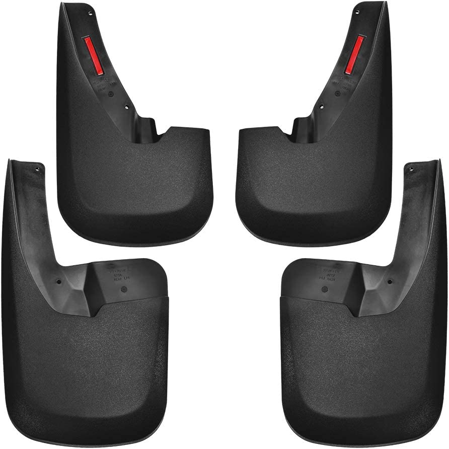 Without OEM Fender Flares ABS Molded Tecoom Mud Flaps Splash Guards Front and Rear 4 Pack for 09-18 Ram 1500 2019 Classic