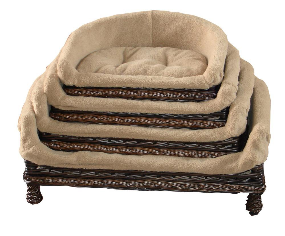 Easypet Half Moon Style Handmade Luxury Wicker Pet sofa,dog sofa, dog couch, basket&cushion Colour can exchange,4 Diff Sizes,UK2209 Easyuk UK2209black