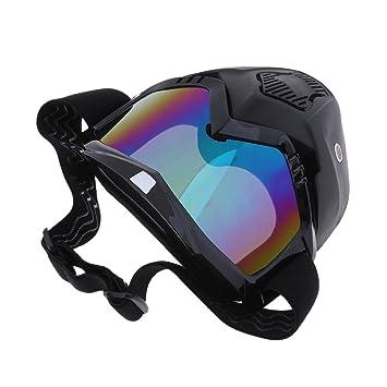NON Sharplace 1 Pieza Máscara Facial para Casco de Moto con Gafas Pieza de Protección Ajustable