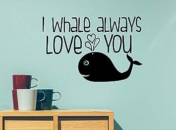 I whale always love you ocean cute hearts playroom sticker nursery vinyl saying lettering wall art  sc 1 st  Amazon.com & Amazon.com: I whale always love you ocean cute hearts playroom ...