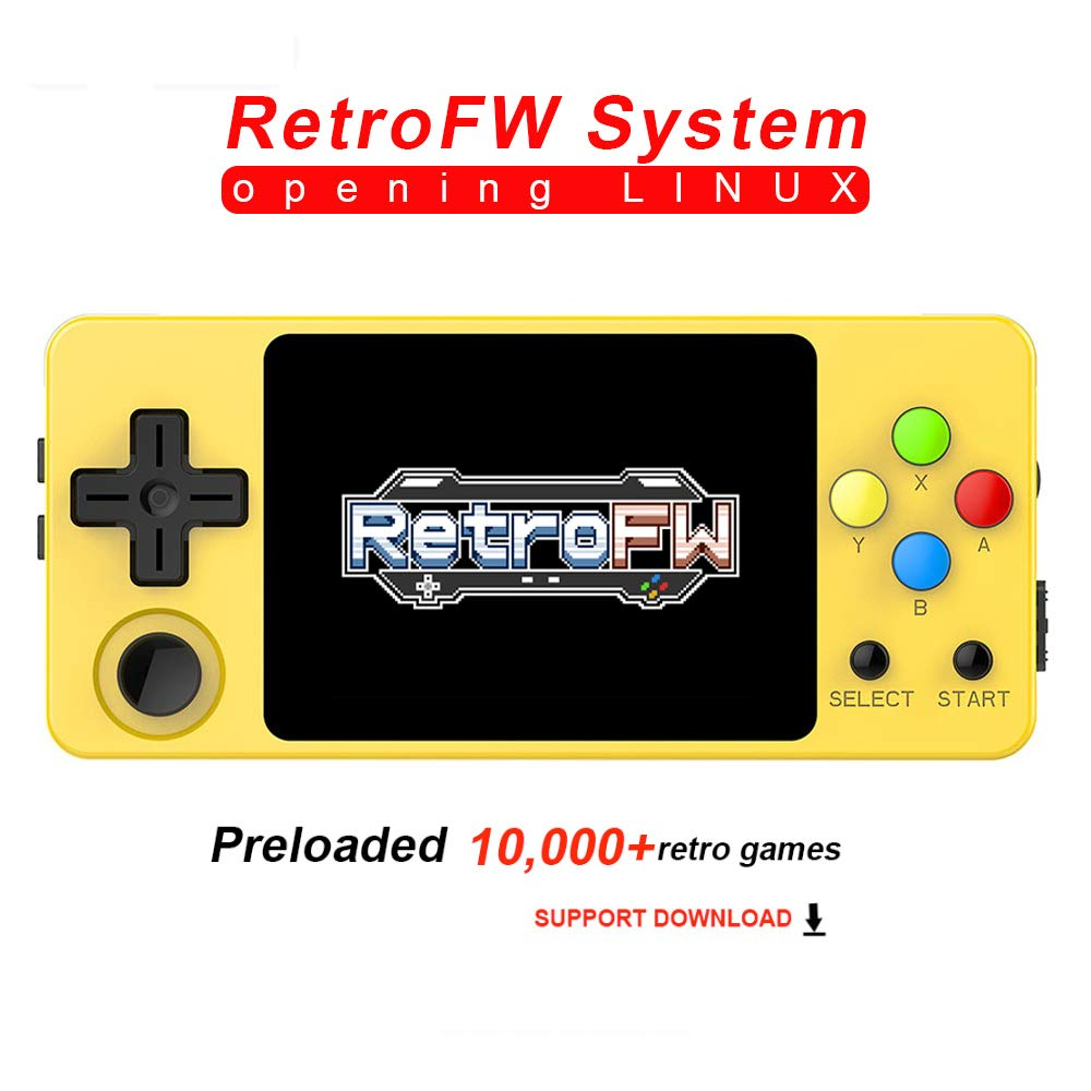 crae9kd LDK Second Generation Game Console Mini Handheld Family Retro Games Console Yellow