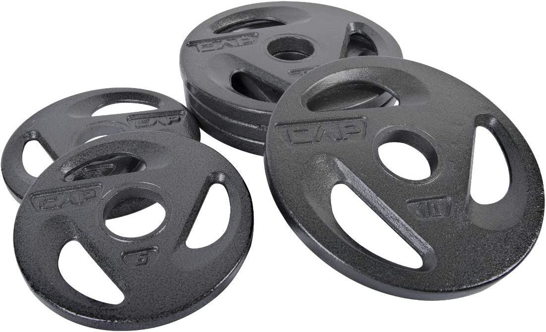 """Cap Olympic Grip Barbell 2/"""" Plate 20 Lbs total 10 lb Pound Weight Plates"""