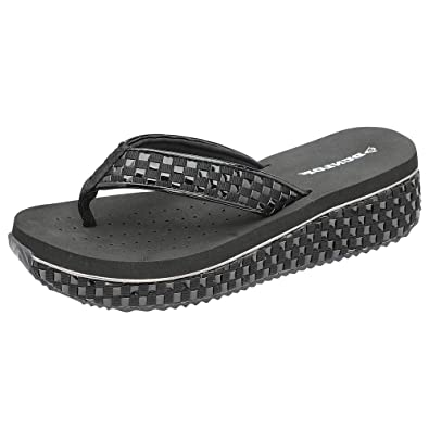 87ee5ed82a5d Dunlop Womens Memory Foam Sandals Platform Wedge Flip Flops Sandals  Amazon. co.uk  Shoes   Bags