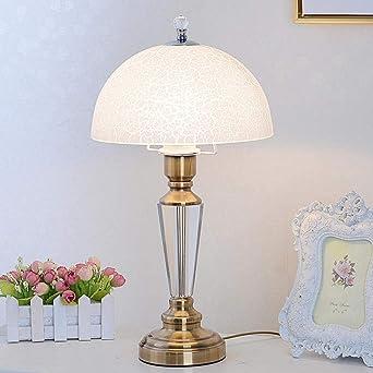 Cohleb Lampe De Table En Cristal Américain Chambre Lampe De