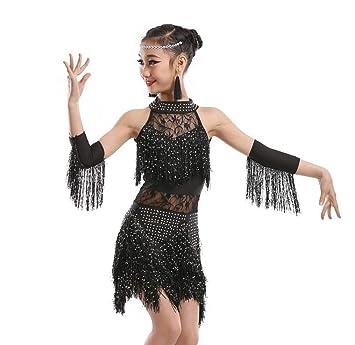 FaldasNiños Profesional Vestido de Baile Latino para niñas ...