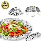 6 inch pressure cooker basket - Vegetable Steamer Basket 100% Stainless Steel Chef Craft Folding Steamer 5.1-9