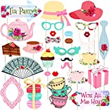LUOEM Tea Party Photo Booth Props Stick Funny Supplies