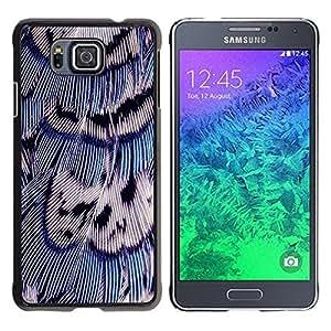 Be Good Phone Accessory // Dura Cáscara cubierta Protectora Caso Carcasa Funda de Protección para Samsung GALAXY ALPHA G850 // Bird Feathers Blue White Nature Easter