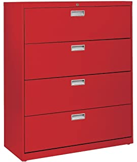 Sandusky Lee LF6A424 01 600 Series 4 Drawer Lateral File Cabinet, 19.25