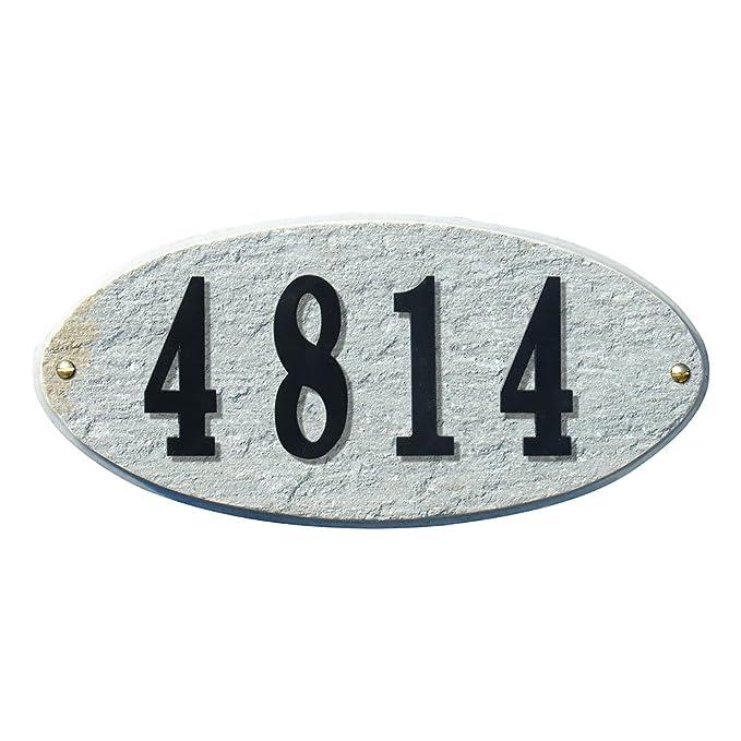 Qualarc Rockport Oval Granite Address PlaqueDo it Yourself Kit Quartzite ROC-4701-QZ-PN