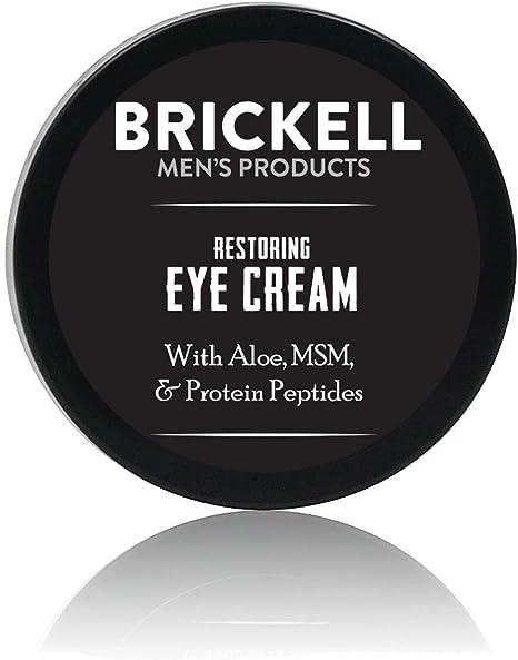 Brickell Mens Products – Crema para Ojos Reparadora para Hombres – Bálsamo para Contorno de Ojos Antiedad Natural y Orgánico – 15 ml